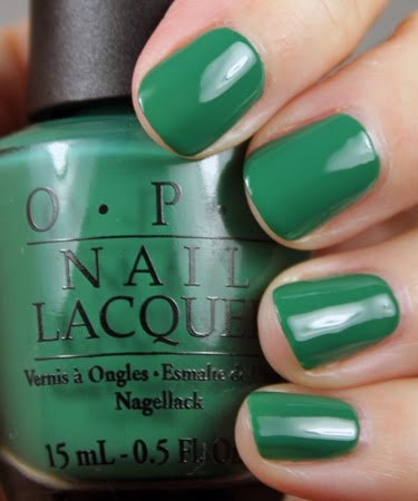 OPI nail polish - Jade is the New Black.  Can't wait to start wearing this ????