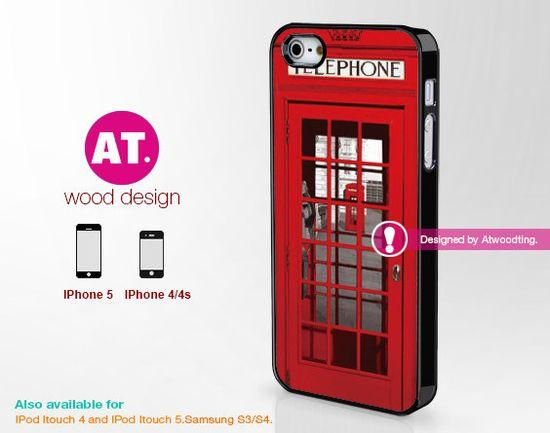 Red Telephone,IPhone 5s case IPhone 5c case  IPhone 5 case IPhone 4 case Rubber case  Rubber soft case  Iphone 4s case iphone 5 cover