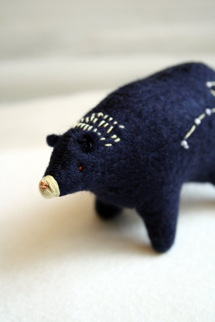 ursa cub - little dipper spirit bear -felt bear soft sculpture by royalmint. $68.00, via Etsy.