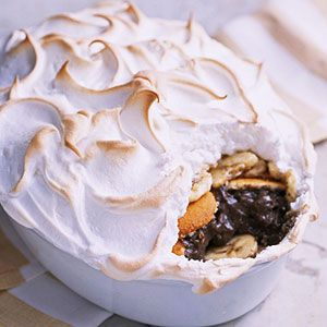 Purchased pudding helps this chocolate dessert come together quickly. It's best served warm from the oven.