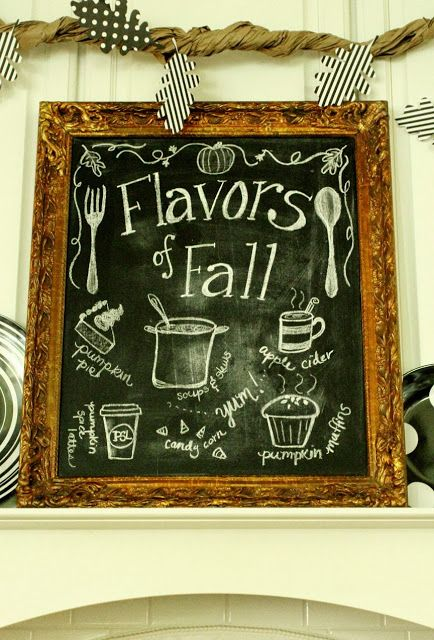 My Fall Kitchen Decor and a Free Fall Chalkboard Printable!