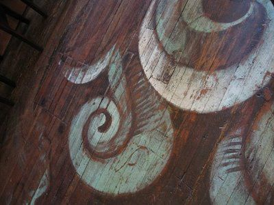 Hand painted wood floor www.sheilazelleri...