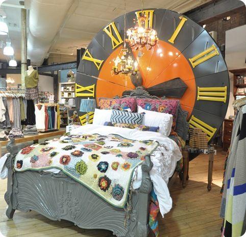 giant clock headboard