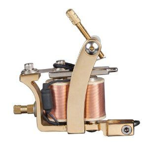 24k Gold-plated Handmade Tattoo Gun with Tips - Achilles by Generic Brand. $39.90. Visible coils with the shiny brass wire attract your clients' eyes better.. Heat treated low carbon steel frame maintains more continual magnetism!. 24K Gold plated Stylish tattoo gun provides you an attractive artwork!. Top quality brass coil gives you a powerful second self!. Brass wire winds straightly on the iron core but not on black shrink tubing!. Brand New Professional H...