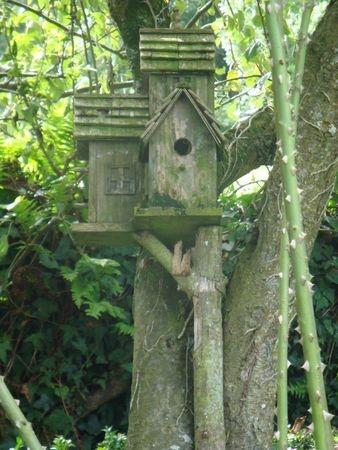 Birdhouses in the woods