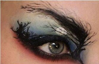Graveyard eye makeup