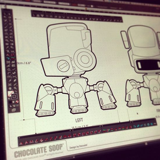 WIP - Prepping for a 3D tutorial vid session with @Glen Southern #BOTOBER 10-014 #robot #art #drawing #vector #adobe #character #characterdesign #robot #illustrator #digital #3D #modelling #tutorial #2013 #CANvsUK #astute #cvalley #iphone #fun #cute #robotlife #creativelife