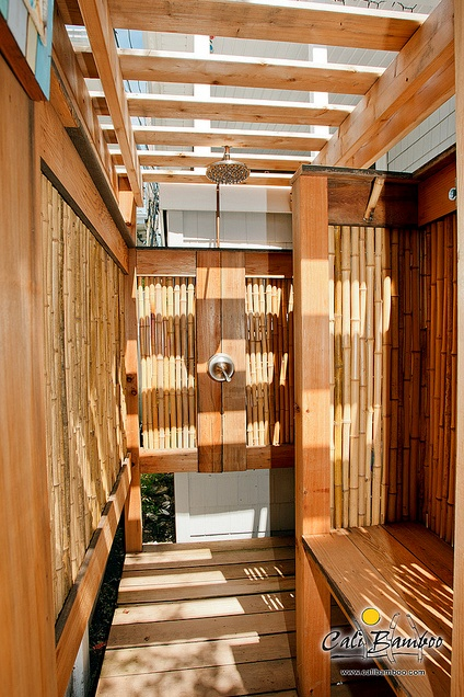 Outdoor Shower Ideas Diy Projects Cali Bamboo Fencing