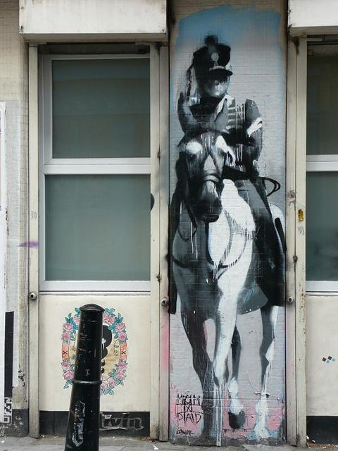 Charge of the Graffiti Brigade, London #graffiti #street art