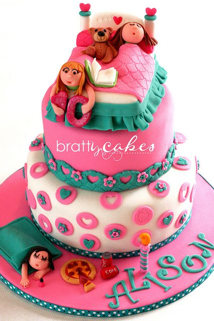Slumber Party Cake by Natty-Cakes (Natalie), via Flickr
