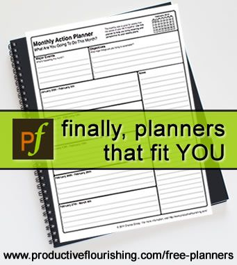 downloadable planners (free!)