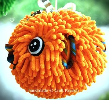 Make a Microfiber Mitt Puffer Fish