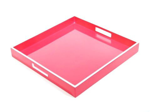 pink lacquer tray..for jewelry, etc