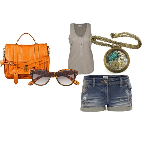 Some summer favorites.  I LOVE this purse. #Clothes #Summer