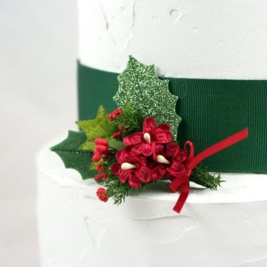 #Christmas #wedding #cake