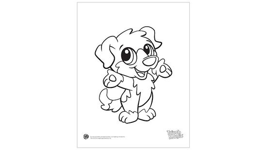 Baby Animals 'Dog' Coloring Page Printable