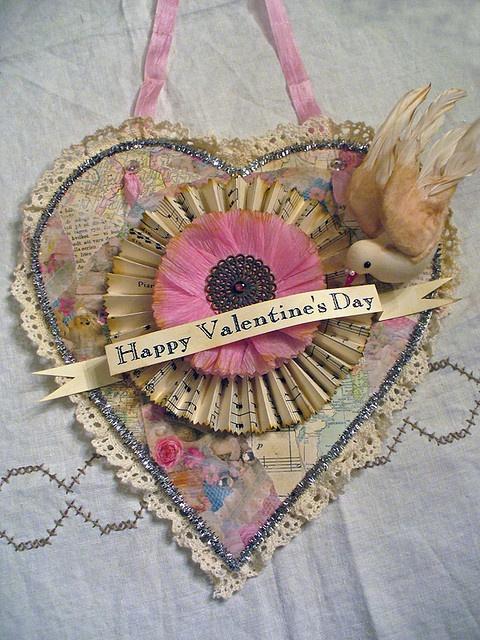 .Handcrafted valentine