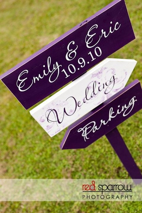Wedding Sign-- we'll need this so people know where to go for the reception