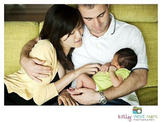 Love newborn family