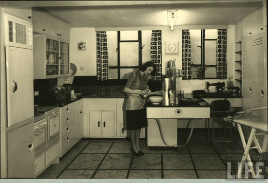 Kitchen interior 1940. LIFE