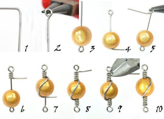 wire wrap a bead  #wire #jewellry #tutorial