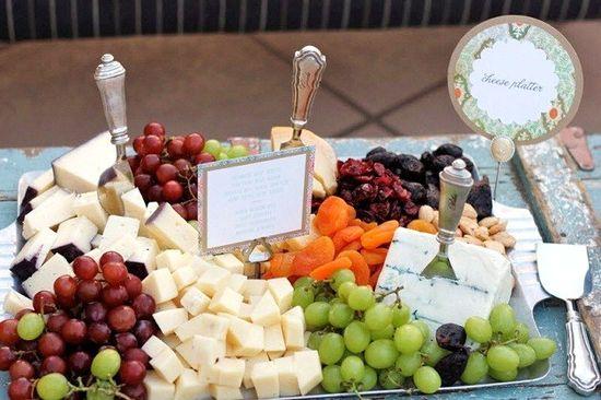 cheese + fruit platter