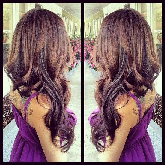 Beautiful fall hair color