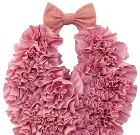 Pink handbag - ruffles, ruffles and more fabulous ruffles