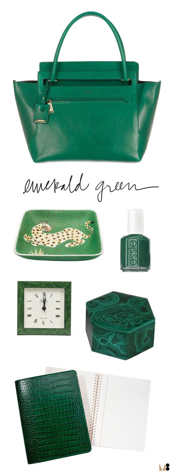 emerald green via @Meg Biram