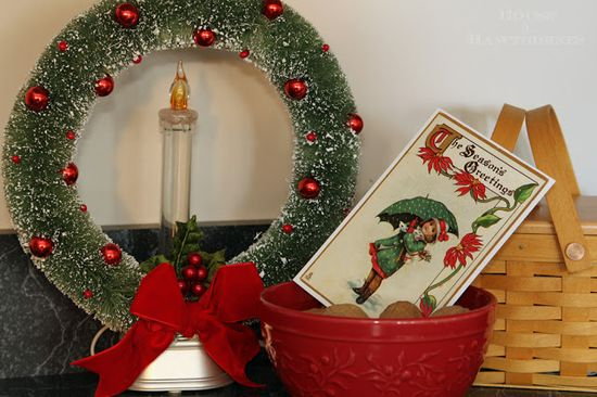 Vintage style Christmas decor