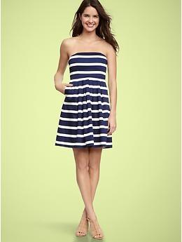 gap sateen striped dress