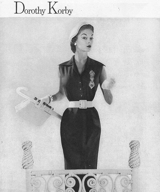 Early 50s warm weather sophistication. #vintage #fashion #1950s