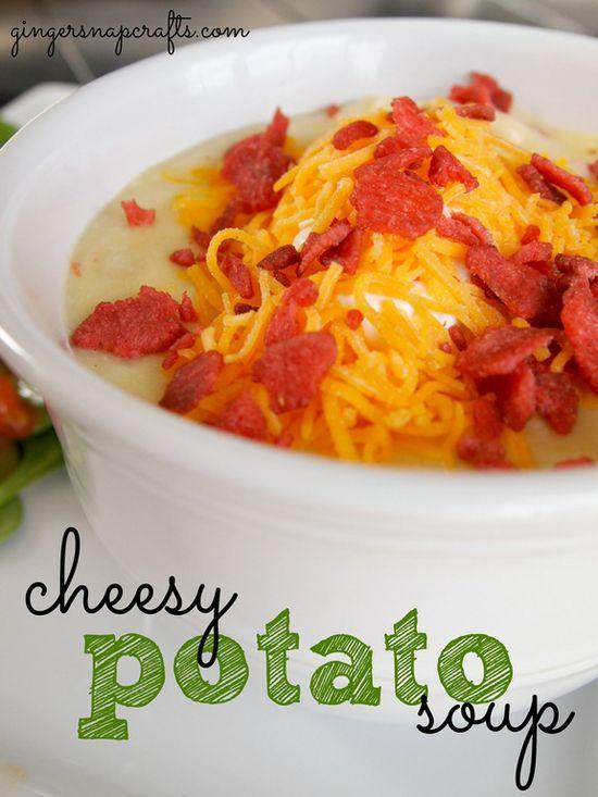 cheesy potato soup from GingerSnapCrafts.com #recipe