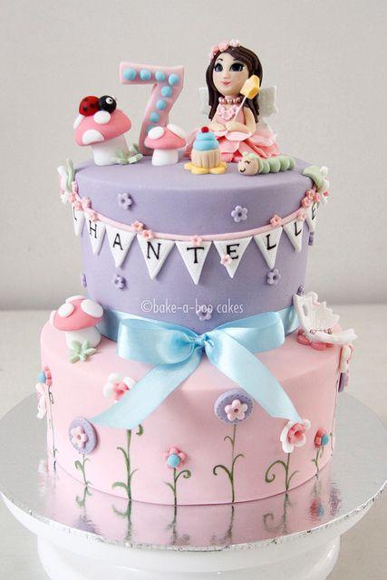 Pink Fairy Cake by Bake-a-boo Cakes NZ, via Flickr
