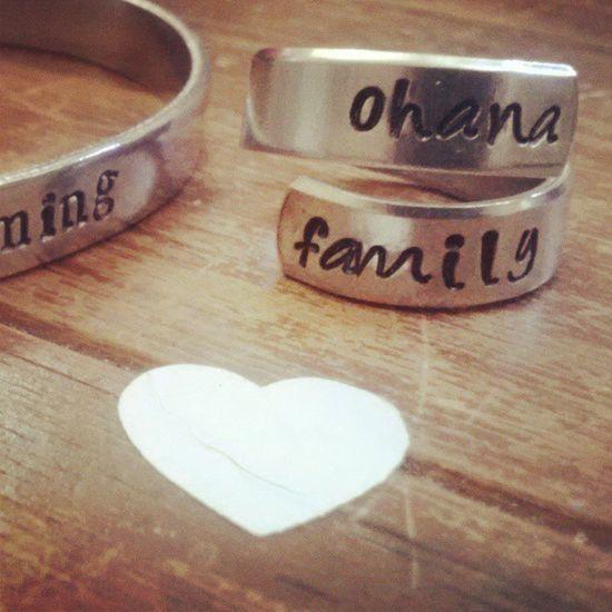 Ohana Family ring from Etsy