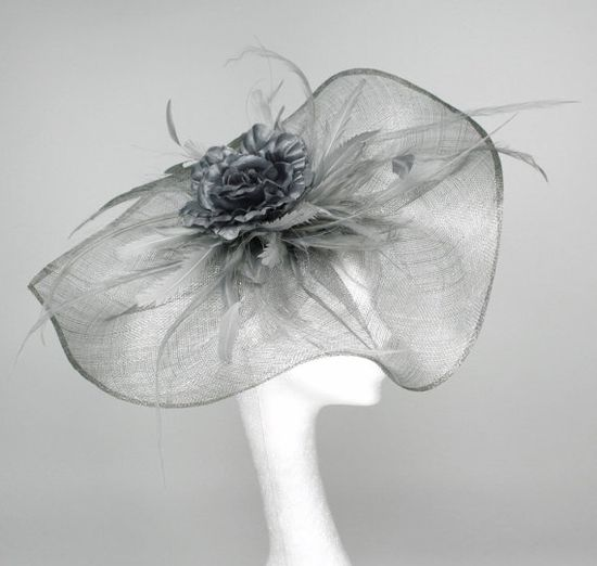 Metalic Silver  Fascinator Hat for Kentucky Derby, Weddings and Christmas Parties