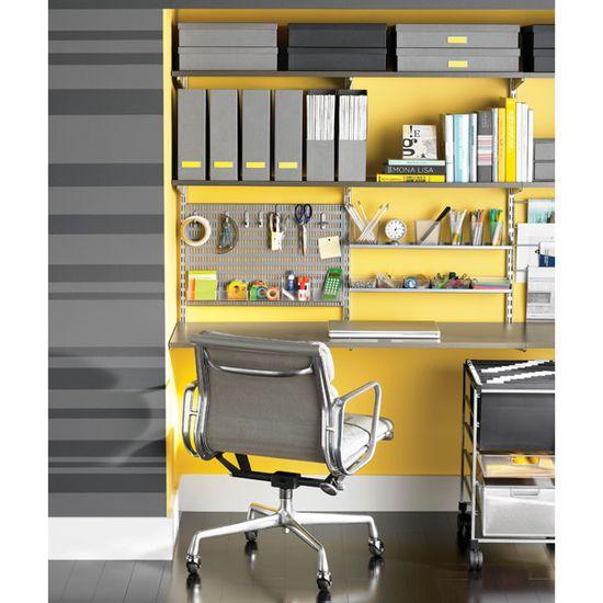 Driftwood & Platinum elfa Deluxe Home Office