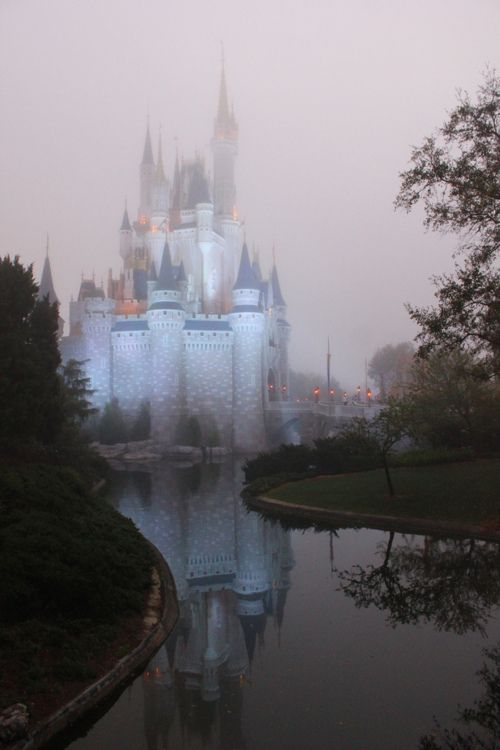 Cinderella's Castle in the fog? Spooky or Spectacular?