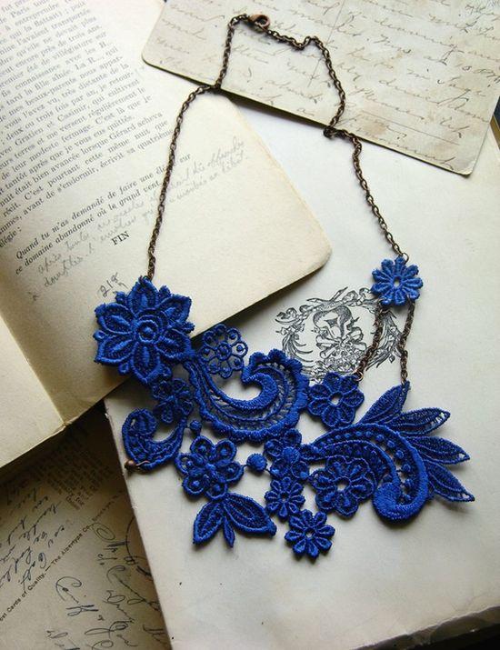 Blue Lace Necklace $32.00