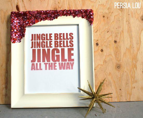 Persia Lou: Handmade Gift Idea: Rhinestone Crusted Framed Printable