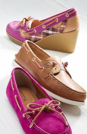 Sperrys in pink? Get in my closet!