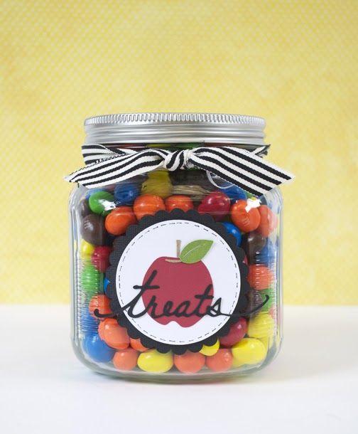 Silhouette Blog: apple and treat shape: Teacher Gift Idea