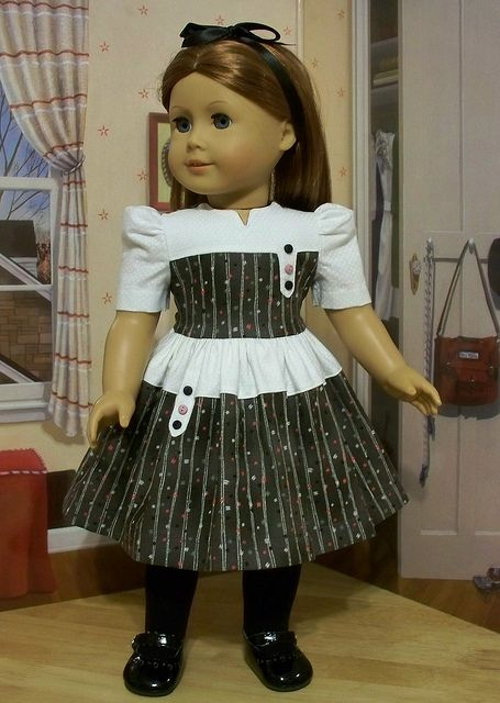 1940's Party Frock~ made for Emily or Molly by Keepersdollyduds, via Flickr
