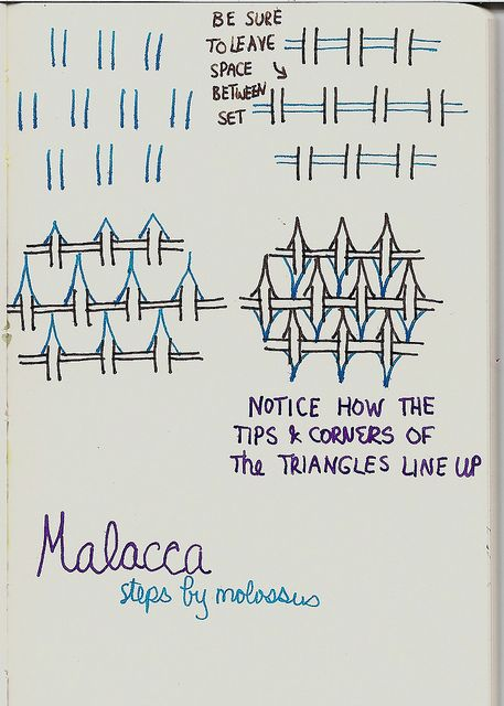 Malacca-Tangle pattern by molossus, who says Life Imitates Doodles, via Flickr