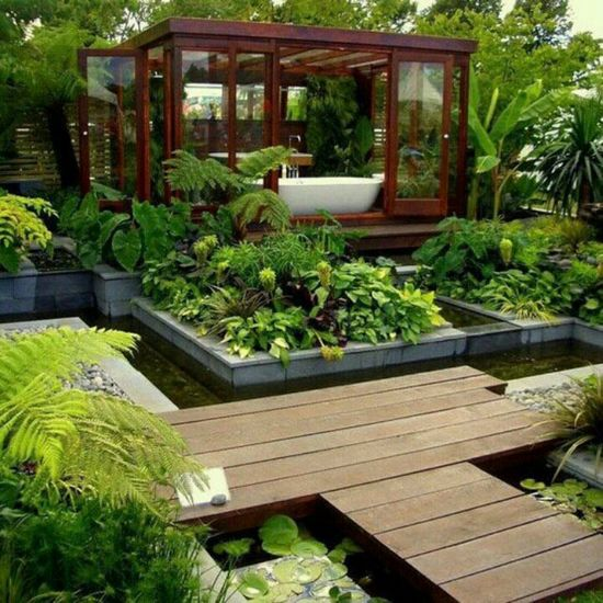 Very cool. Could also be an outdoor bath.