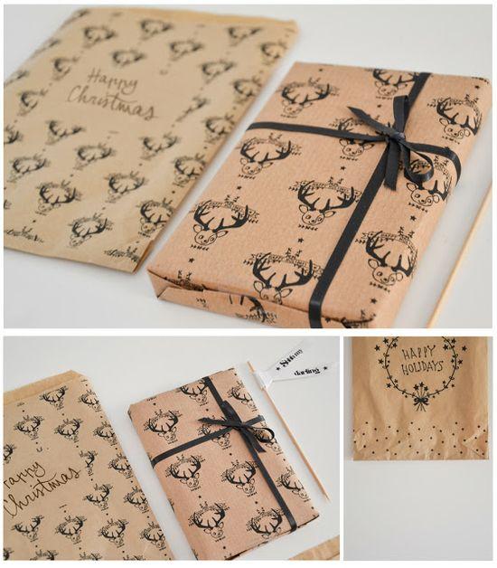Free printable Christmas wrap templates!