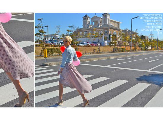 #handmade #skirt #polkadot