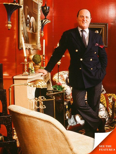 Interior Design Icons of the 80's:  Mario Buatta. the king of chintz