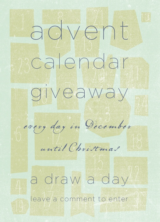 Give-away!  Every day a new hand made gift — A draw a day until Christmas!
