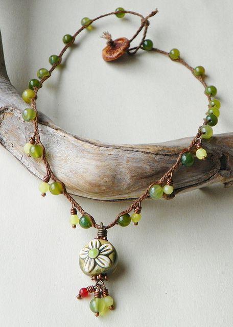 Linen Blossom necklace, Erin Siegel